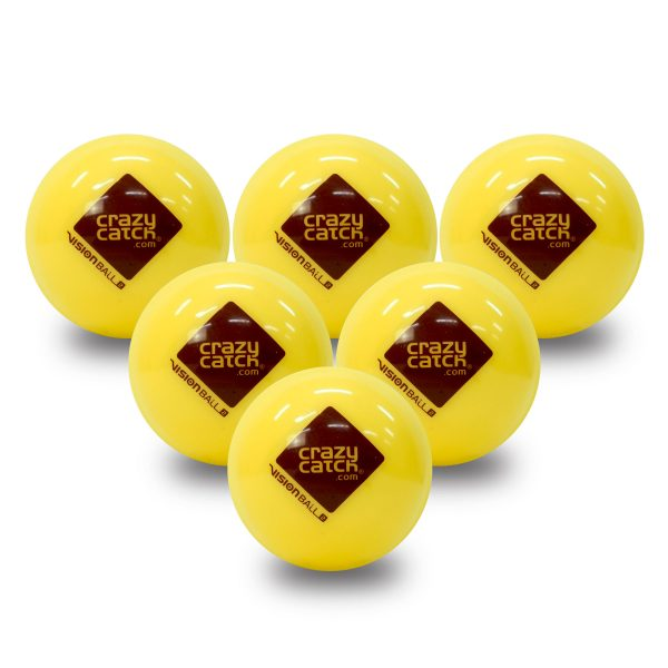 Vision Ball level 2 yellow ball 6 pack