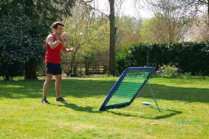 History of Crazy Catch | Harry Gibson with his Original Crazy Catch Rebound Net